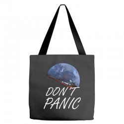 spacex don't panic in space Tote Bags   Artistshot