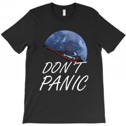 spacex don't panic in space T-Shirt   Artistshot