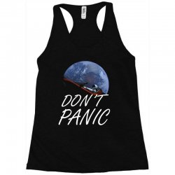 spacex don't panic in space Racerback Tank   Artistshot
