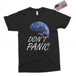 spacex don't panic in space Exclusive T-shirt   Artistshot