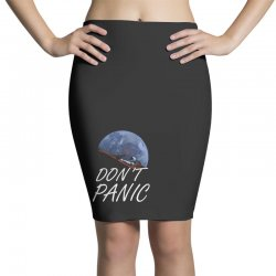 spacex don't panic in space Pencil Skirts   Artistshot