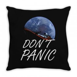 spacex don't panic in space Throw Pillow   Artistshot