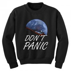 spacex don't panic in space Youth Sweatshirt   Artistshot