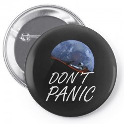 spacex don't panic in space Pin-back button   Artistshot