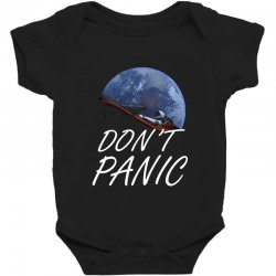 spacex don't panic in space Baby Bodysuit   Artistshot