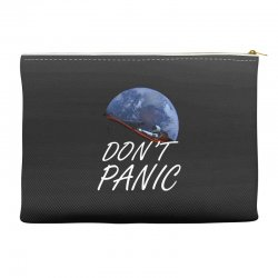 spacex don't panic in space Accessory Pouches   Artistshot
