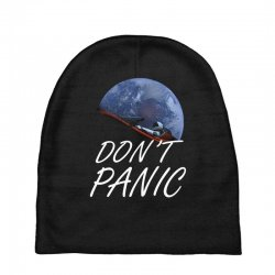 spacex don't panic in space Baby Beanies   Artistshot