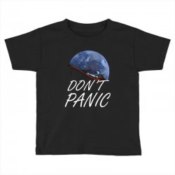 spacex don't panic in space Toddler T-shirt   Artistshot