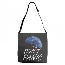 spacex don't panic in space Adjustable Strap Totes   Artistshot