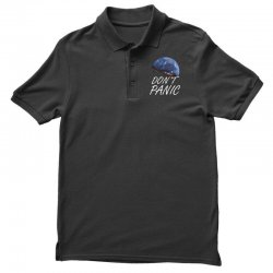 spacex don't panic in space Polo Shirt   Artistshot