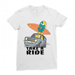 take a ride Ladies Fitted T-Shirt | Artistshot