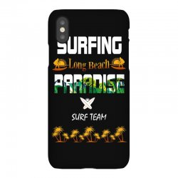 surfing log beach paradise surf team 1 iPhoneX Case | Artistshot