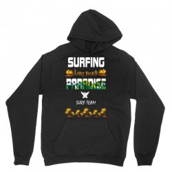 surfing log beach paradise surf team 1 Unisex Hoodie | Artistshot