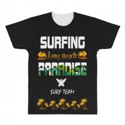 surfing log beach paradise surf team 1 All Over Men's T-shirt | Artistshot
