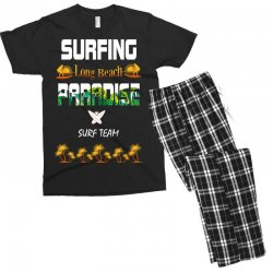 surfing log beach paradise surf team 1 Men's T-shirt Pajama Set | Artistshot
