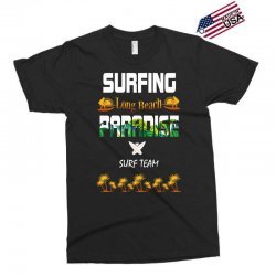 surfing log beach paradise surf team 1 Exclusive T-shirt | Artistshot