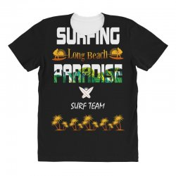 surfing log beach paradise surf team 1 All Over Women's T-shirt | Artistshot