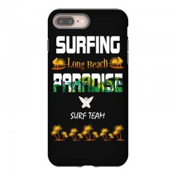 surfing log beach paradise surf team 1 iPhone 8 Plus Case | Artistshot