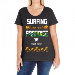 surfing log beach paradise surf team 1 Ladies Curvy T-Shirt | Artistshot