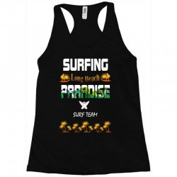 surfing log beach paradise surf team 1 Racerback Tank | Artistshot