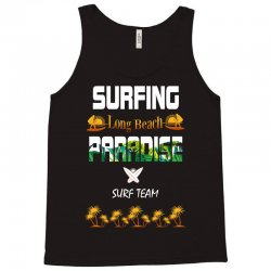 surfing log beach paradise surf team 1 Tank Top | Artistshot
