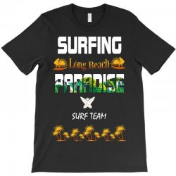 surfing log beach paradise surf team 1 T-Shirt | Artistshot