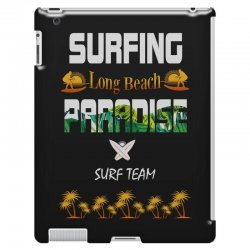surfing log beach paradise surf team 1 iPad 3 and 4 Case | Artistshot