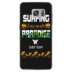 surfing log beach paradise surf team 1 Samsung Galaxy S7 Case | Artistshot