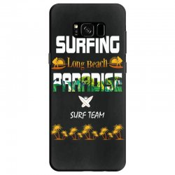 surfing log beach paradise surf team 1 Samsung Galaxy S8 Case | Artistshot