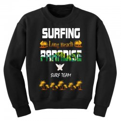 surfing log beach paradise surf team 1 Youth Sweatshirt | Artistshot