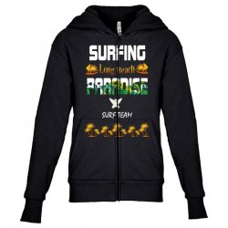 surfing log beach paradise surf team 1 Youth Zipper Hoodie | Artistshot