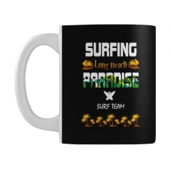 surfing log beach paradise surf team 1 Mug | Artistshot