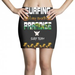 surfing log beach paradise surf team 1 Mini Skirts | Artistshot