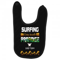 surfing log beach paradise surf team 1 Baby Bibs | Artistshot