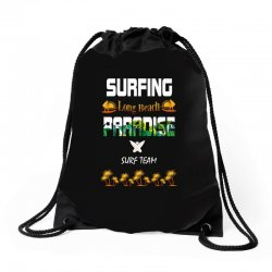surfing log beach paradise surf team 1 Drawstring Bags | Artistshot