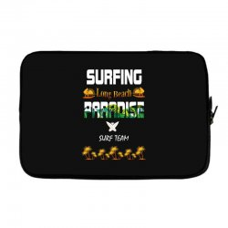 surfing log beach paradise surf team 1 Laptop sleeve | Artistshot