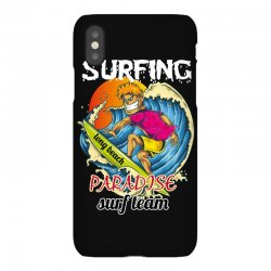 surfing log beach paradise surf team iPhoneX Case | Artistshot