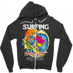 surfing log beach paradise surf team Zipper Hoodie | Artistshot