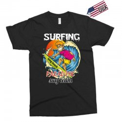 surfing log beach paradise surf team Exclusive T-shirt | Artistshot