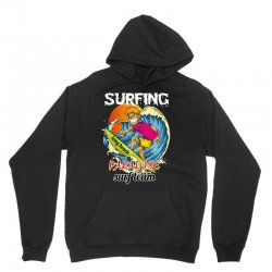 surfing log beach paradise surf team Unisex Hoodie | Artistshot