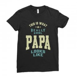 Really Cool Papa Ladies Fitted T-Shirt | Artistshot