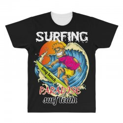 surfing log beach paradise surf team All Over Men's T-shirt | Artistshot