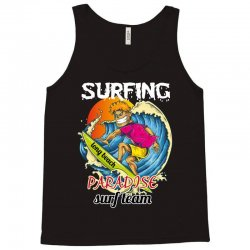 surfing log beach paradise surf team Tank Top | Artistshot