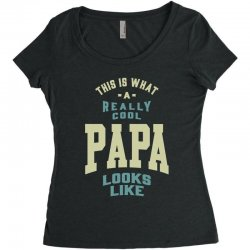 Really Cool Papa Women's Triblend Scoop T-shirt | Artistshot