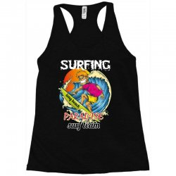 surfing log beach paradise surf team Racerback Tank | Artistshot