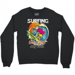 surfing log beach paradise surf team Crewneck Sweatshirt | Artistshot