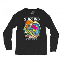 surfing log beach paradise surf team Long Sleeve Shirts | Artistshot