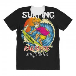surfing log beach paradise surf team All Over Women's T-shirt | Artistshot