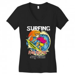 surfing log beach paradise surf team Women's V-Neck T-Shirt | Artistshot