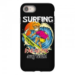 surfing log beach paradise surf team iPhone 8 Case | Artistshot